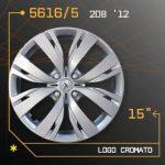 Tampão roda PEUGEOT 208 cromado