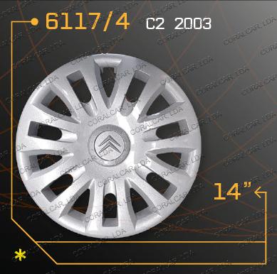 Tampões roda CITROEN C2 copy