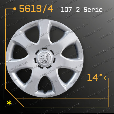 Tampões roda PEUGEOT 107 2 SERIE
