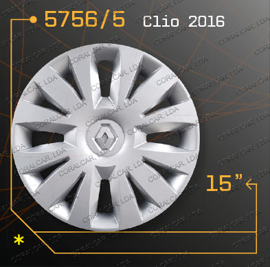 Tampões roda RENAULT CLIO 15 2016