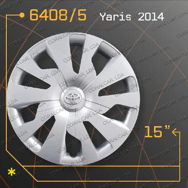 Tampões roda TOYOTA YARIS 2014